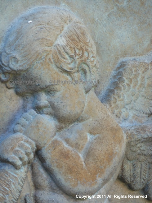Detail of Cherubs Face from Water Fountain