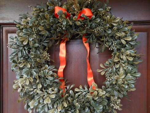 Double Door Boxwood Wreath