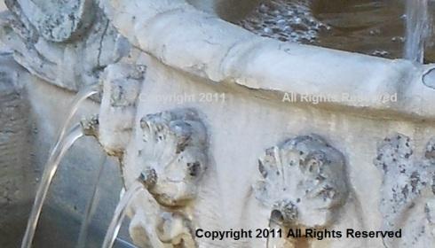 Fountain Spouts from The Cherub Fountain