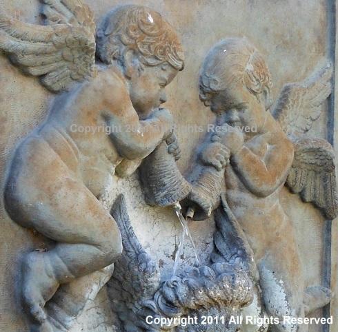 Closeup of Cherubs from Water Fountain